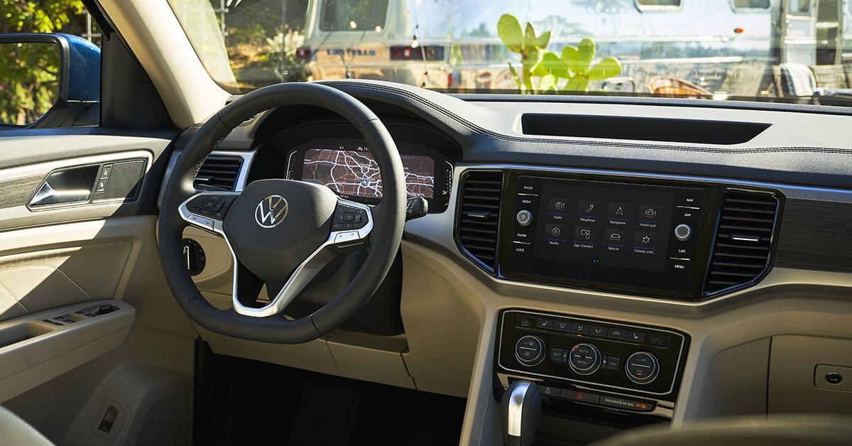 Interior view of the 2021 VW Atlas