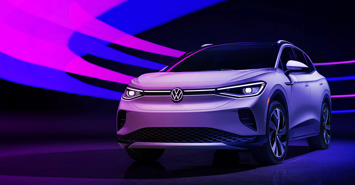 Side profile view of the 2021 Volkswagen ID.4